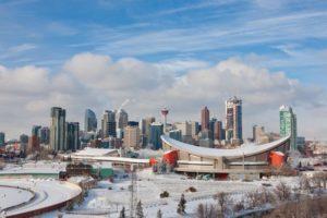 Winter in downtown Calgary