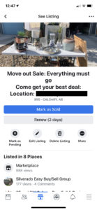 Free and Effective Facebook Marketplace Ad