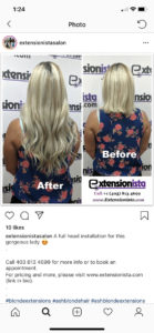 Free and Effective Sell Ad on Instagram - Extensionista Hair Salon