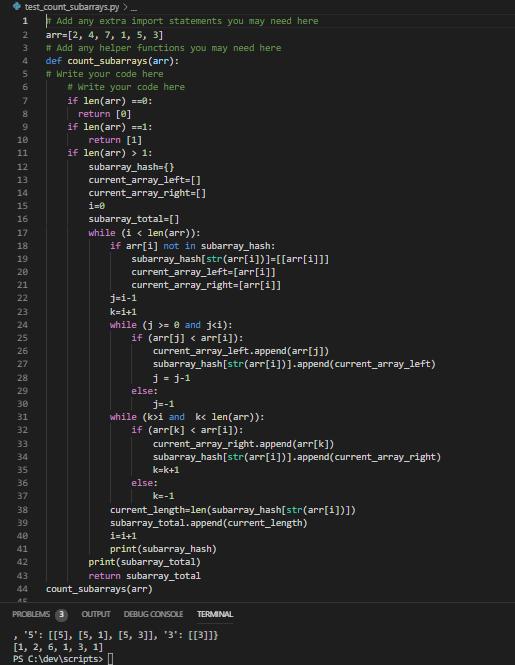 O(n) Contiguous Subarray in Python
