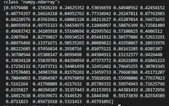 python numpy: 100 random numbers generated from standard normal distribution with mean 0 and standard deviation 1